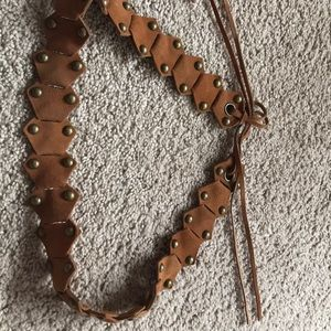 Accessories - Brown studded belt